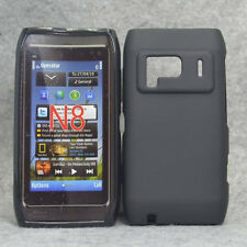 For Nokia N8 Black AntiPrint Matte Rubber Gel skin Case Cover