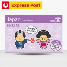 Unicom Travel Sim Card Japan 7 Days Unlimited Data SIM in SoftBank Network