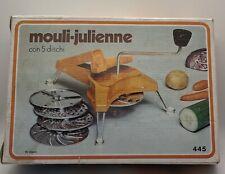 Vintage Mouli-Julienne 445 Made In France 5 Disc Shredder Grater Slicer