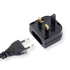 EU 2pin to UK 3pin Plug Power Adapter Converter Mains Fused Adapter Bs5733 TypeC
