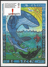 GB 2004 Royal Society of Arts 68p Zero Waste Save Our Seas Whale stamp maxi card