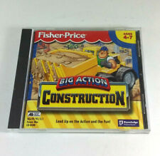 Fisher-Price Big Action Construction Vintage PC Game Knowledge Adventure Age 4-7