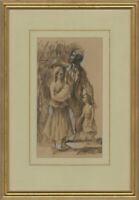 Frank Joseph Archer (1912-1995) RWS - 1938 Pen and Ink Drawing, Family Group