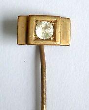 Un tono oro vintage Bastone Perno con un bianco e diamante