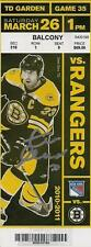 Zdeno Chara Boston Bruins Signed Autographed 2011 Cup Season Vs Rangers Ticket