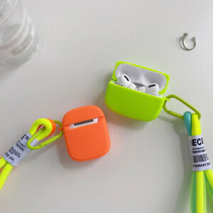 For Apple Airpods Pro 1st 2nd Earphone Protect Silicone Soft Lanyard Case Cover