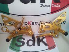 KIT PEDANE RACING ERGAL GOLD ORO BMW S1000 RR FINO AL 2014