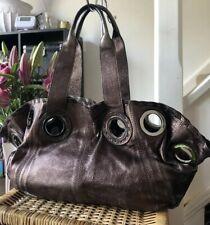 Genuine Jaeger Bronze Leather Tote Bag Over Shoulder Bag