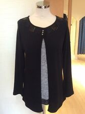 Latte Sweater Size 16 BNWT Black Grey Layered RRP £114 Now £45