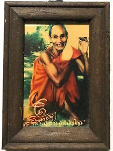 PHRA LP SUANG RARE OLD THAI BUDDHA AMULET PENDANT MAGIC ANCIENT IDOL#25