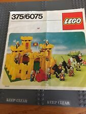 LEGO VINTAGE YELLOW CASTLE INSTRUCTIONS ONLY 375/6075