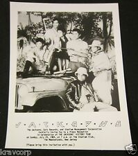 THE JACKSONS—RARE 1984 PRESS PARTY INVITATION/PHOTO—MICHAEL JACKSON