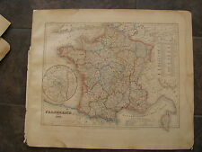 1849 ORIGINAL Map of France