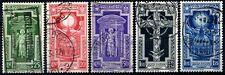 Regno d'Italia 1933 Anno Santo S68 n. 345/349 usati (m936)