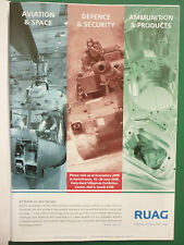 6/2008 PUB RUAG AEROSPACE DEFENCE AVIATION SPACE SUISSE EUROSATORY ORIGINAL AD