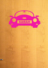 Personalised Car Sticker / Decal for Boys/Girls Bedroom, Door, Wall, Mirror etc.