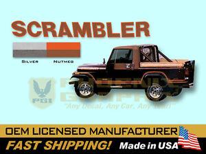 1981 1982 1983 1984 Jeep Scrambler CJ8 Decals & Stripes Kit