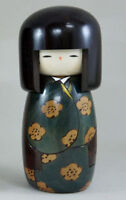Usaburo Kokeshi Japanese Wooden Doll 58 Kojitsu Green (Summer)