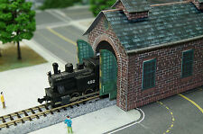 Single Stall Red Brick Engine House N Scale Building DIY Paper Cutout Kit