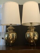 New listing Vintage C. N Burman Brass Lamps With Shades