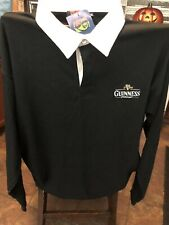 Guiness Official Rugby Shirt Black White 2XL