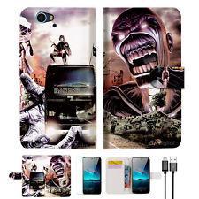 Iron Maiden Wallet Case Cover For Telstra 4GX HD-- A014