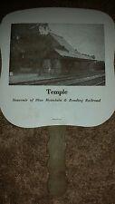 Paper Fan Temple Souvenir of Blue Mountain & Reading Railroad