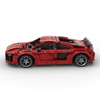 MOC AUDI r8 quattro v10 super sport car coupe' static brick Block moc BUILDING