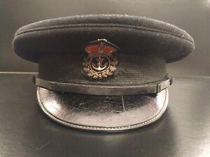 WW2 Royal Navy Officers Service Cap :Original
