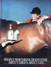 1981 BEEFEATER 'London Dry' Gin Advert - Original 'Harvey Smith' Print AD