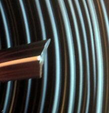 30 m Abdeckprofil Kederschiene Schraubkanal Leistenfüller schwarz / weiß 12mm