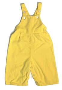 Vintage Toddletime JC Penney Yellow Corduroy Button Bib Overalls Snaps 1 Japan