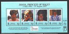 TRISTAN DA CUNHA Sc618 SG#MS637 MNH 1998 Princess Diana Memorial sheet 4 SCV$5