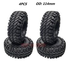 """ROCK 1.9"""" Rubber Tires 114mm Tyre For Rc 1/10 Axial SCX10 II TRX-4 JEEP Wrangler"""