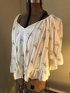 Ralph Lauren Vintage Cotton Peasant Blouse
