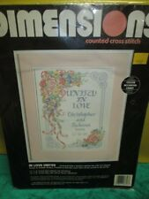 Dimensions United In Love Counted Cross Stitch 3727 Personalized Marriage New