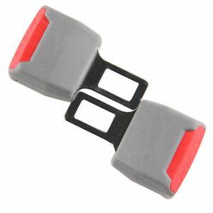 2 x Universal Grey Auto Seat Belt Buckle Clip Extender Safety Alarm Stopper