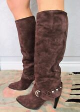 Givenchy CROSTA Brown Suede BOOTS. High heel. Size EU 40 / UK 7. Boxed. RRP £484