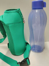 Tupperware Large Eco Water Bottle 32oz w/ Carrying Pouch Green