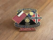 Two Georgia's United in Friendship Atlanta 1996 National Olympic Committee Pin