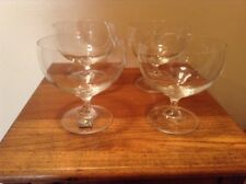 4 Mikasa Studio Nova Slovakia Venice Crystal Footed Dessert Champagne Glass Bowl