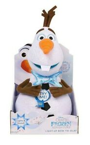 Disney Olafs Frozen Adventure 12-inch Musical & Light Up Bow Tie Olaf New