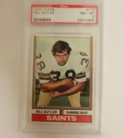 1974 Topps Football Bill Butler #118 PSA 8