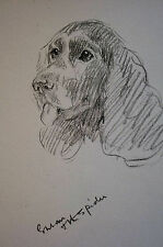 Lucy Dawson 1937 COCKER SPANIEL - Eye on the Sprider - Dog Art Print Matted