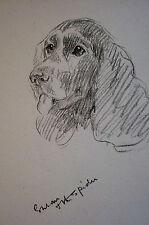 Lucy Dawson 1937 Cocker Spaniel - Eye on the Sprider - Dog Art Print Matted