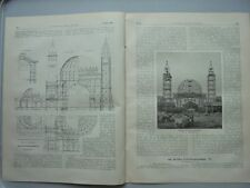 1896 16 Kolonien Berlin Gewerbeausstellung Humann Kaiserbrunn Quellananlage