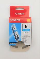GENUINE CANON BCI 6 CYAN ink cartridge iP3000 MP750 S830 i860 BJF890 i950 iP4000