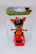 Solar Power Dancing Toys Brown and Black Chihuahua Bobble Head Dancing Toys New