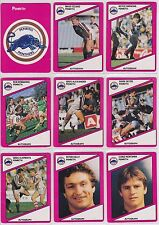 9 x Scanlens 1988 NRL Trading Cards Penrith Panthers Cards 97-105