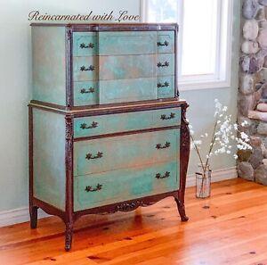 Antique Dresser, Chest Of Drawers, Boho, Painted Dresser, Shabby Chic, Dresser